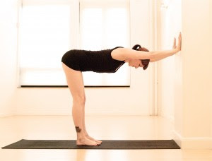 Wall Plank Pose For Lower Back Pain