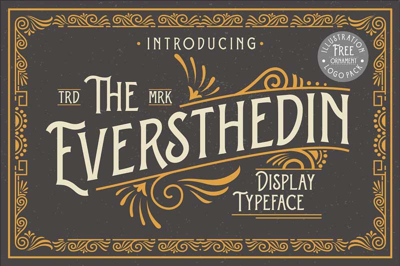 Eversthedin + Extras Font 4716458
