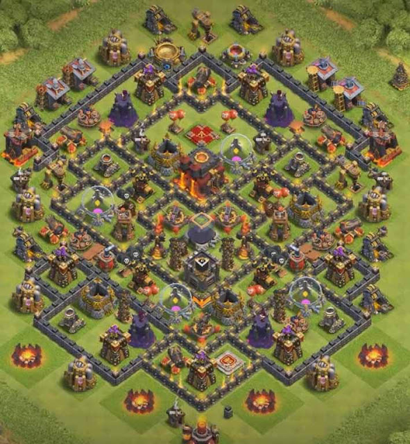 Base Town Hall 10 Clash of Clans Hybrid