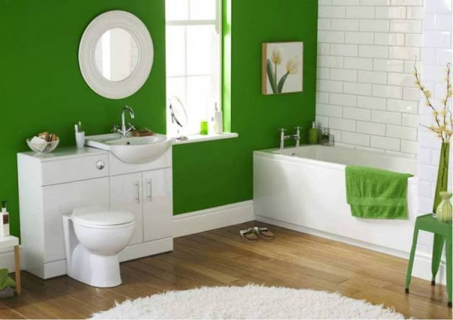 large bathtub for remodeling green bathroom