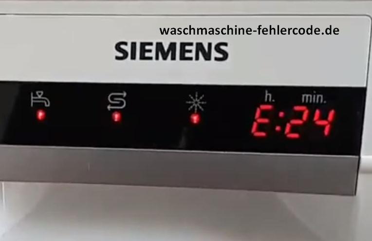 Siemens Geschirrspüler Fehlercode E24