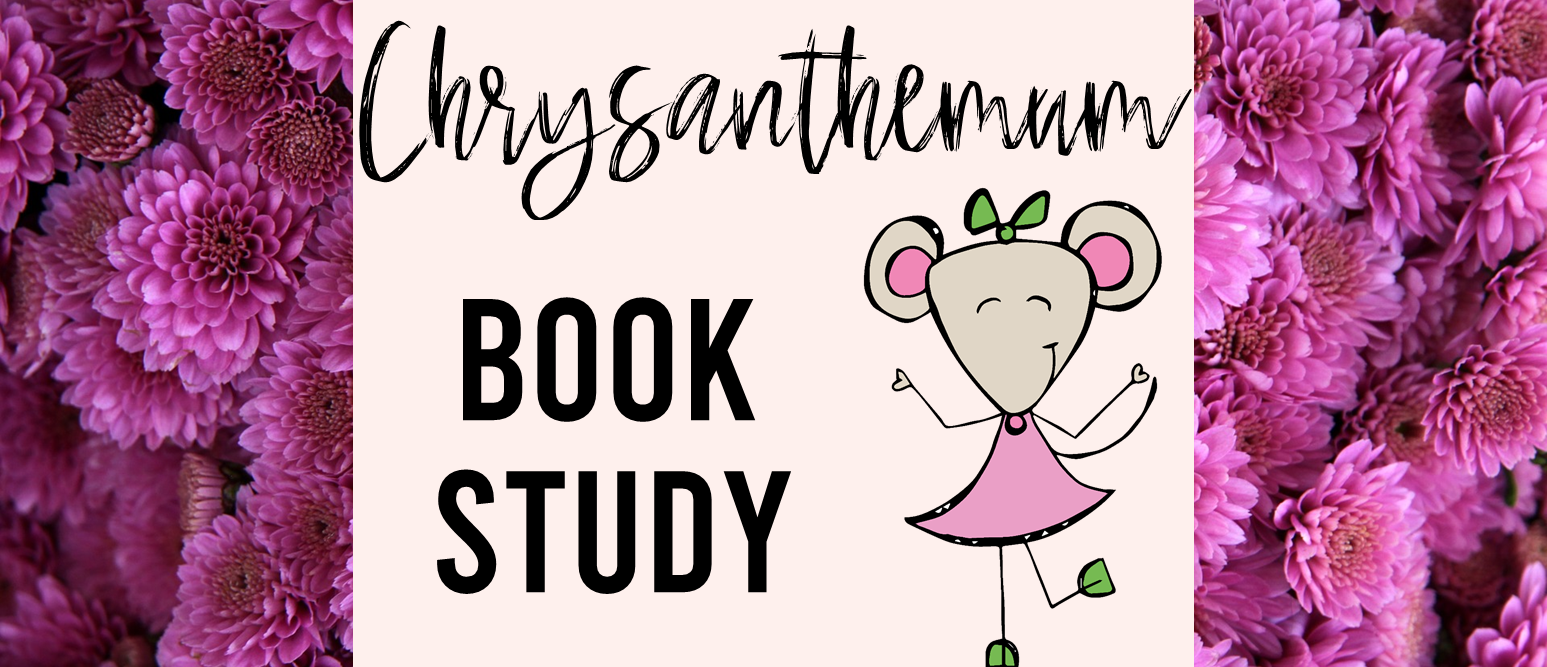 Chrysanthemum book study activities unit with Common Core aligned literacy companion activities and craftivity for Kindergarten and First Grade