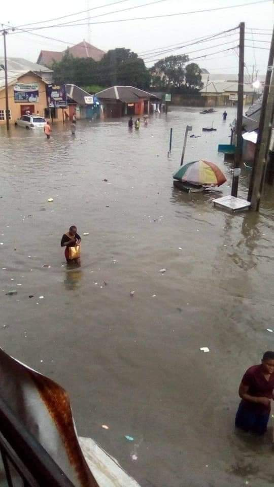 Pray for Rivers State, check out what flood did in major roads
