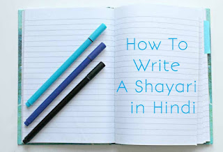 How to write shayari in Hindi