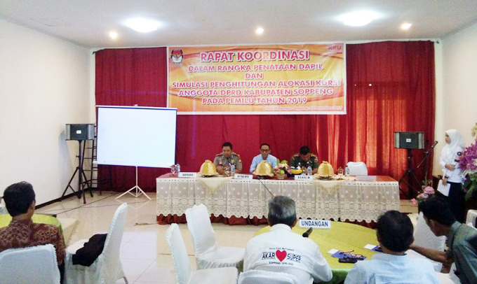 KPU Soppeng Gelar Rakor Penataan Dapil dan Perhitungan Alokasi Kursi DPRD