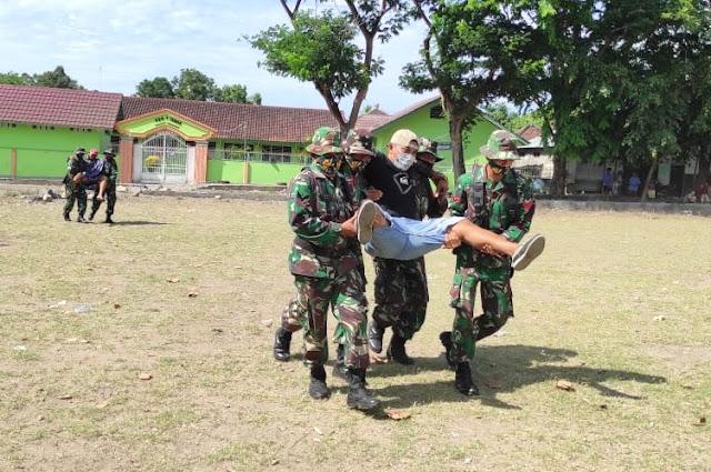 Kodim Lotim gelar latihan penanggulan bencana alam