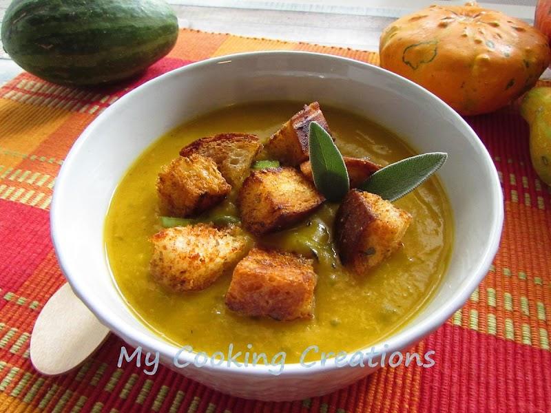 Крем супа от тиква с крутони * Vellutata di zucca