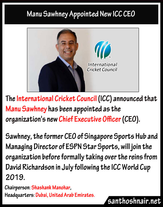 Manu Sawhney appointed new ICC CEO
