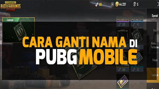 Cara Ganti Nickname PUBG Mobile