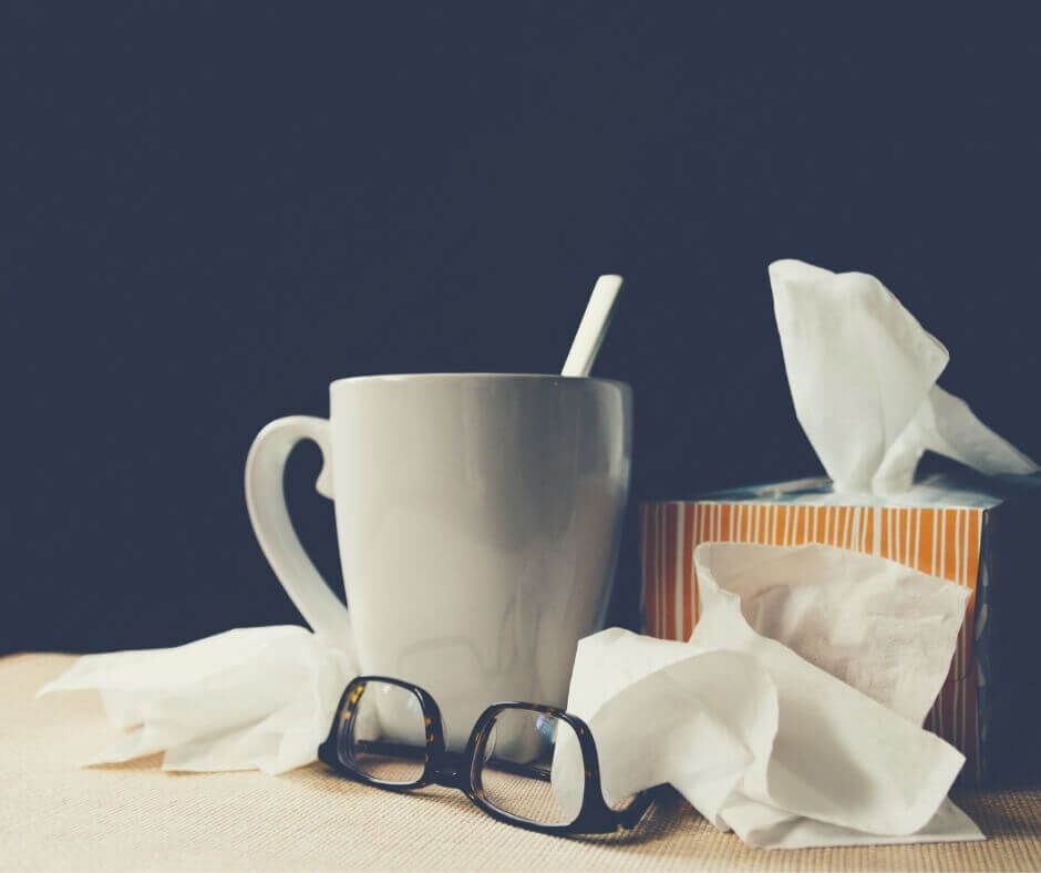 Getting Sick During The COVID-19 Crisis | Tissues in my hand and plenty of lemsip!