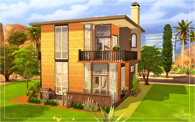 Sims 4 Contemporary House Preview
