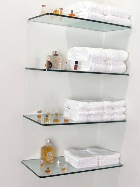 Stylish glass shelf