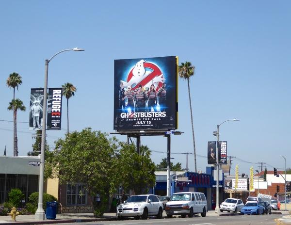 Female Ghostbusters 2016 movie billboard