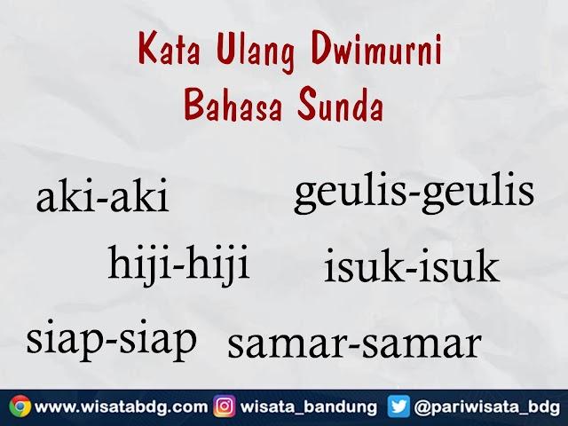 Mengenal Kata Ulang Dwimurni Bahasa Sunda dan Contoh Penerapan dalam Kalimat