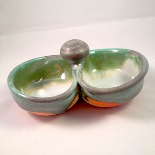 Hand Made ceramic condiment dish by Lori Buff