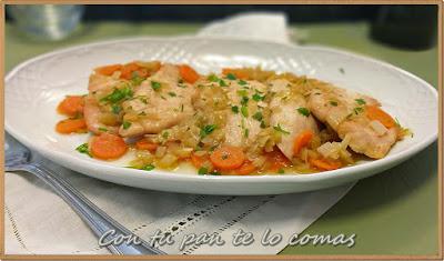 Filetes de pavo con salsa