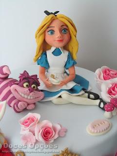 sugar paste Alice no País das Maravilhas