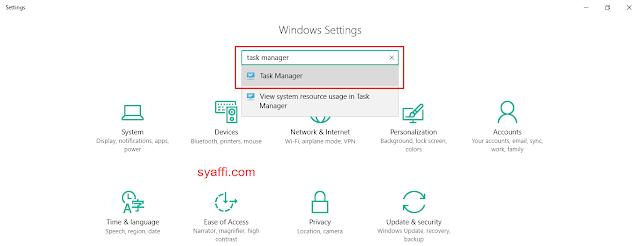 Cara Membuka TASK MANAGER pada Windows 10