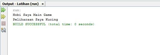Output dari Variable Kelas