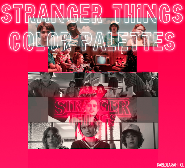 Stranger Things Color Palettes