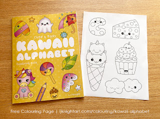 cute Kawaii coloring page free printable