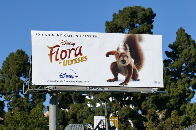 Flora and Ulysses movie billboard