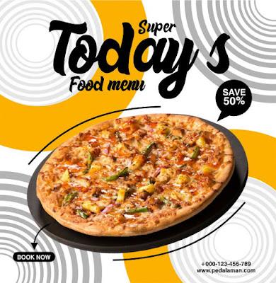 pizza flyer design