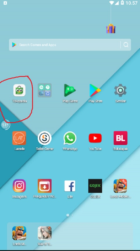 Aplikasi Tokopedia