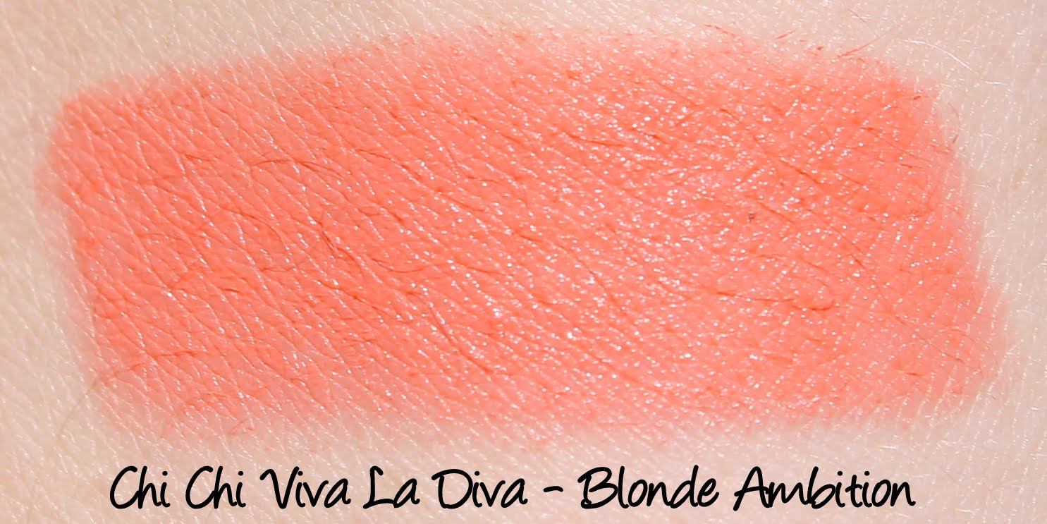 Chi Chi Viva La Diva Lipstick - Blonde Ambition Swatches & Review