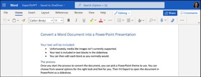 cara tukar word kepada power point