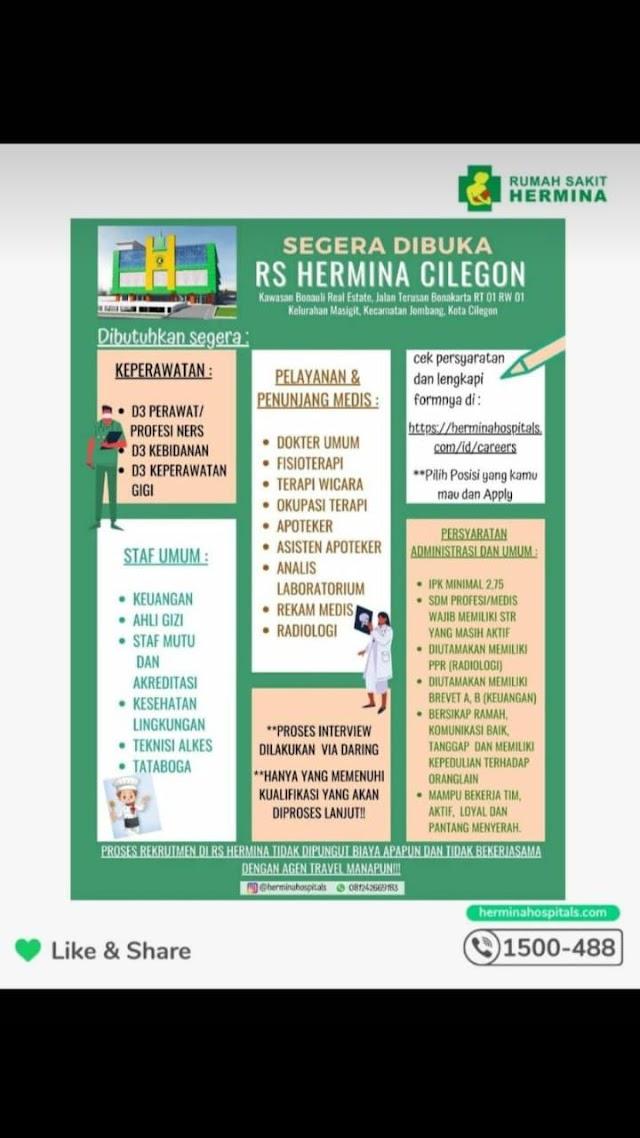 Loker Dokter RS Hermina Cilegon