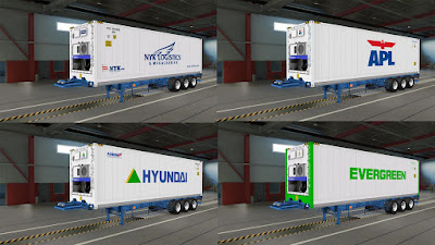 Real Container Trailer Mod ETS2 1.35 - 1.38