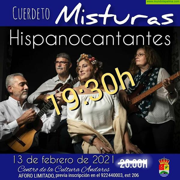 El Cuerdeto Misturas lleva al Centro de la Cultura Andares su espectáculo 'Hispanocantantes'