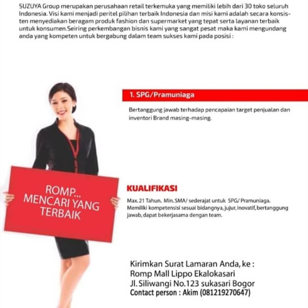 Lowongan Kerja Di Jakarta Barat Sebagai Spg Lockerjob