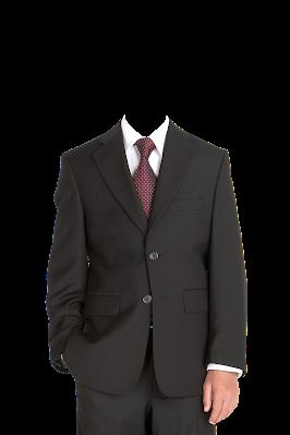 Contoh template gambar baju jas pria kancing tertutup png