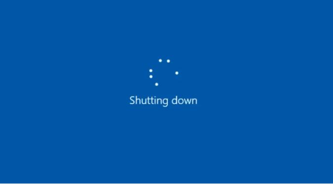 Shut down Windows 10 using CMD.