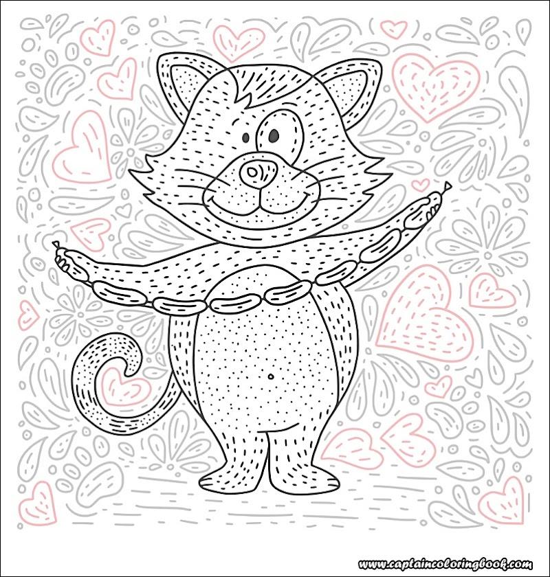 malvorlagen mit cartoon doodle tier mandala  free mandala