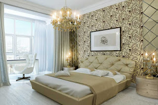 Ingin mempunyai kamar tidur yang lebih indah Desain Wallpaper Dinding Kamar Tidur