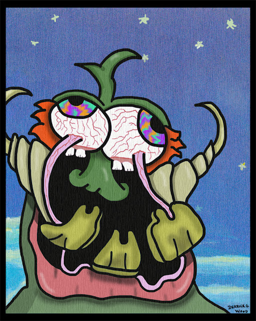 alien art fantasy creature teeth eyes comics fiction