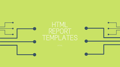 HTML Report Templates For Application