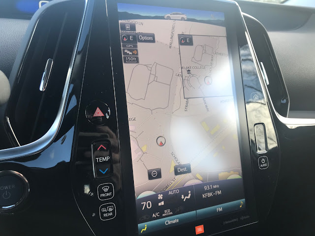 11.8-inch touchscreen in 2020 Toyota Prius Limited