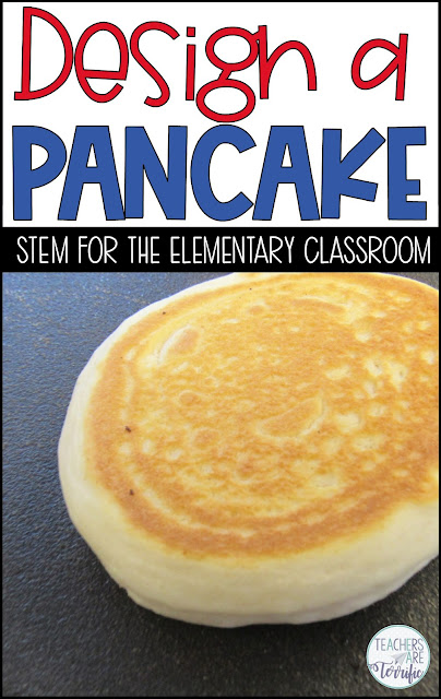 STEM Challenge: Experiment with ingredients with small batches of pancakes. Then design the ultimate pancake using the experiment results! Upper elementary STEM!