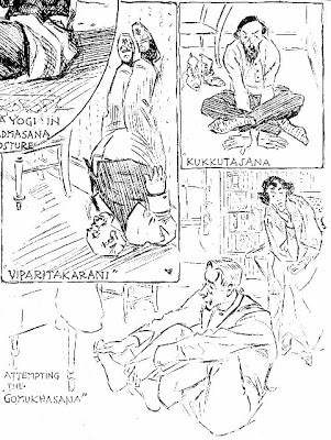 Drawings in an article about yoga, New York Herald, March 27, 1898