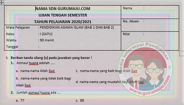 Contoh Soal UTS PAI Kelas 2 SD Semester 2 K13 Revisi