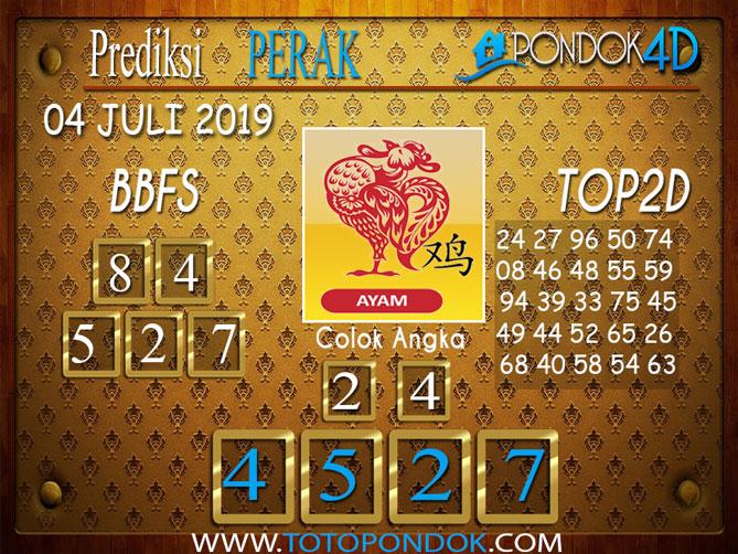 Prediksi Togel PERAK PONDOK4D 04 JULI  2019