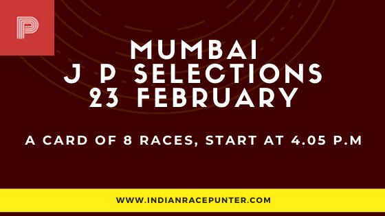 Mumbai Jackpot Selections 23 February, Jackpot Selections by indianracepunter,