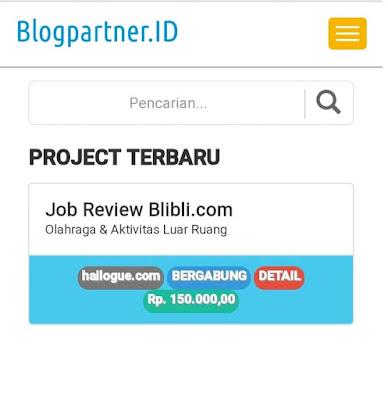 Blogpartner.ID, Platform Kerjasama Para Blogger dengan Hadiah Voucher Belanja Blibli.com dan Uang Tunai