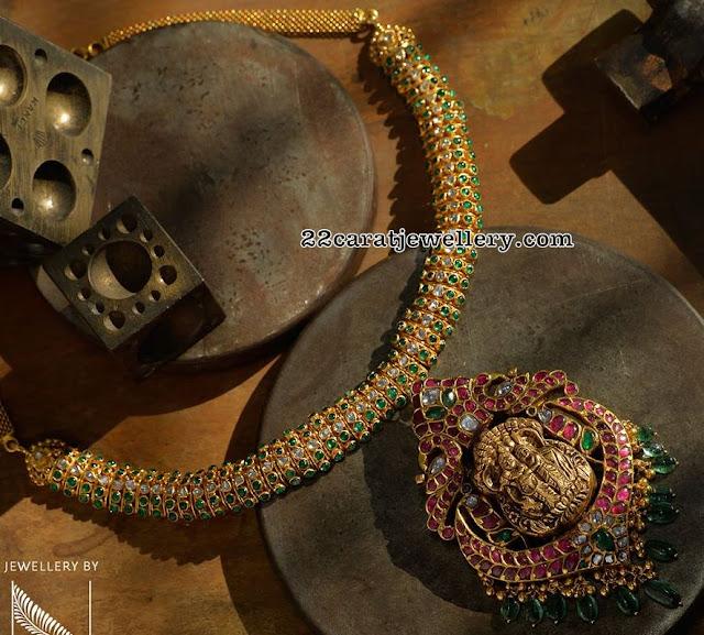 Emerald Kante with Krishna Pendant