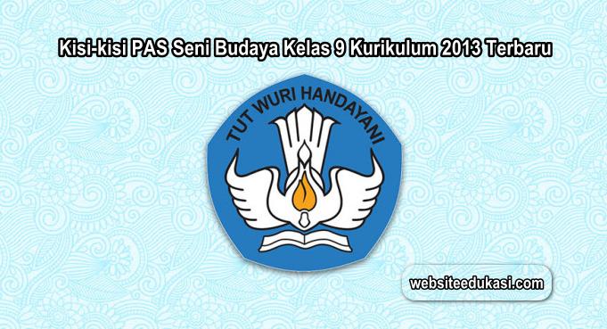 Kisi-kisi PAS Seni Budaya Kelas 9 K13 Tahun 2019/2020