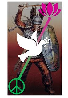 dépassons le mythe du guerrier gaulois, préférons la colombe de la paix !